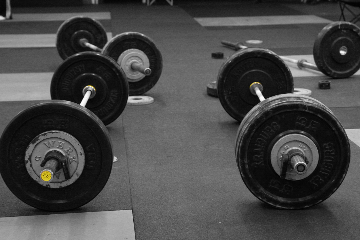 Platforms, barbells, bumpers