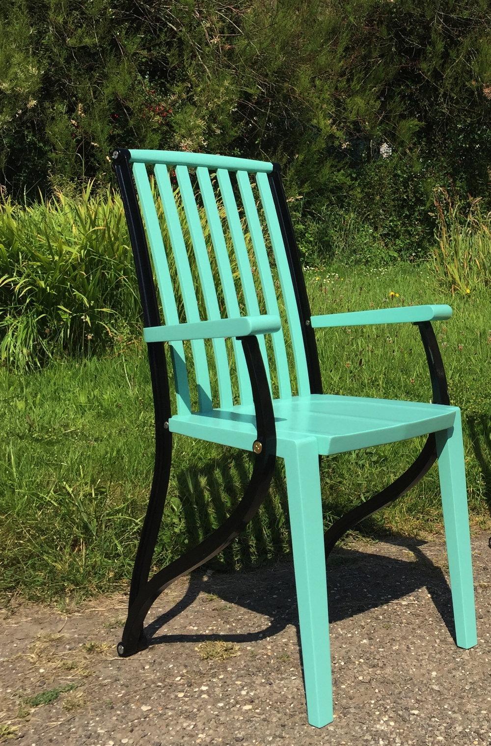 green 'civetta' garden chair