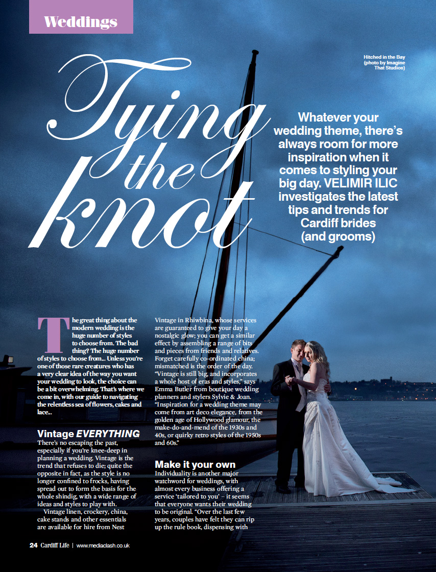Cardiff Life Magazine features the work of wedding photographers Imagine That Studios