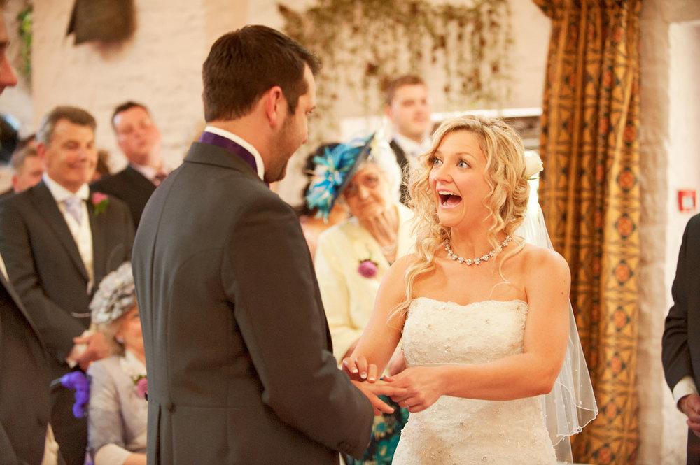 Cardiff Wedding Photographers Marriage Ceremony in Miskin Manor