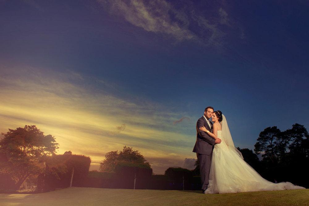 Cardiff Wedding Photographers Sunset Wedding Photograph