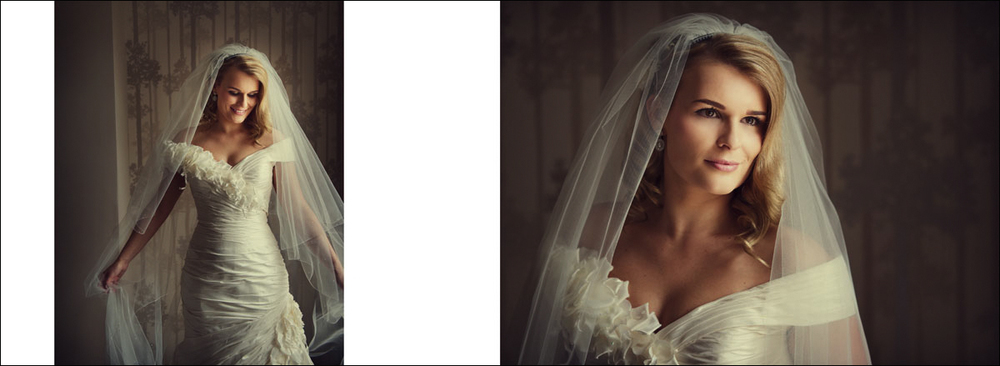 Brides preparation wedding photography - wedding album layout
