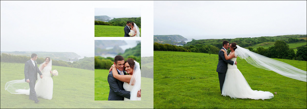 Mock up of a wedding photograph overlaid with other wedding photographs