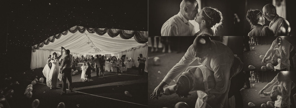 Keep the wedding photographs in black and white on the same wedding album spread