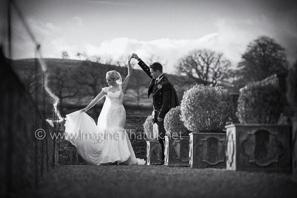 Wedding Photography Aberglasney Gardens Carmarthen
