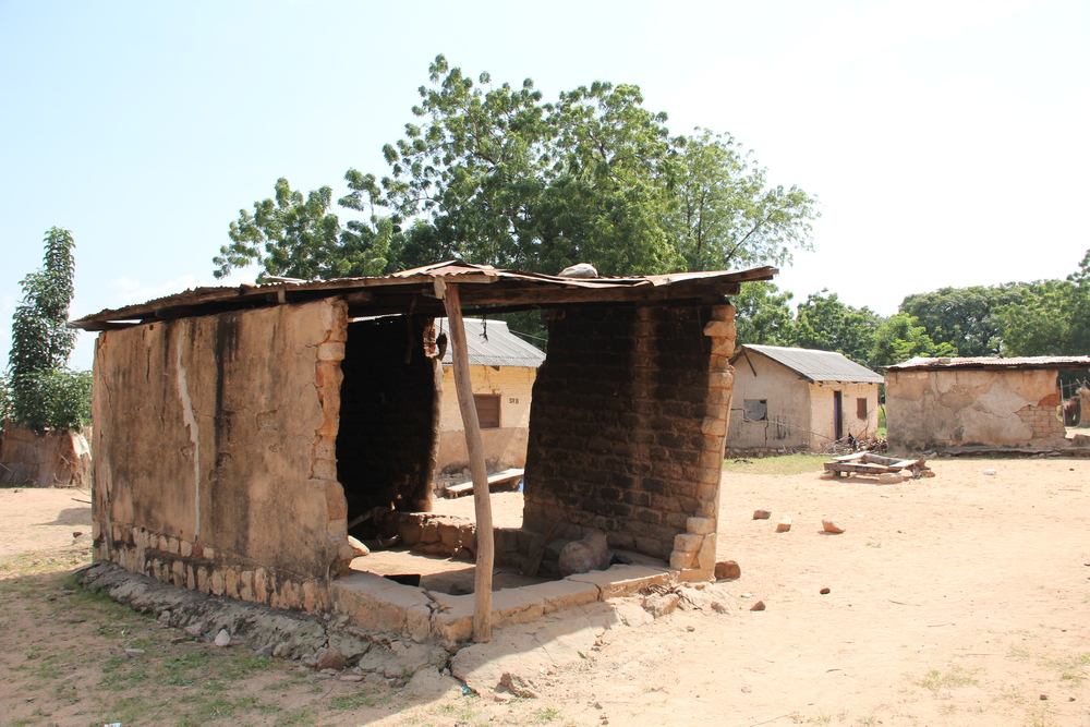A typical kitchen hut in the married student neighborhood.