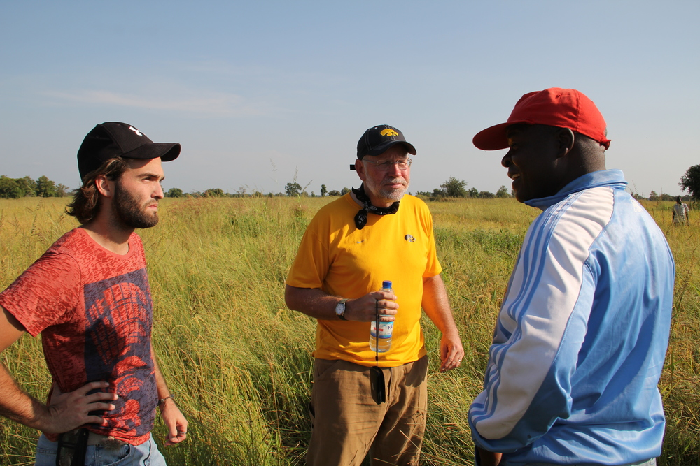 Rev. Francis Sadiq, BTS lecturer and farm manager, explains methods for raising rice, the principal crop on the BTS farm.