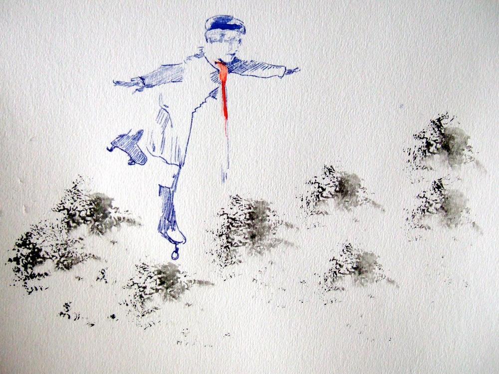 Float on By (2010), watercolour and ink on paper, 210 x 297mm