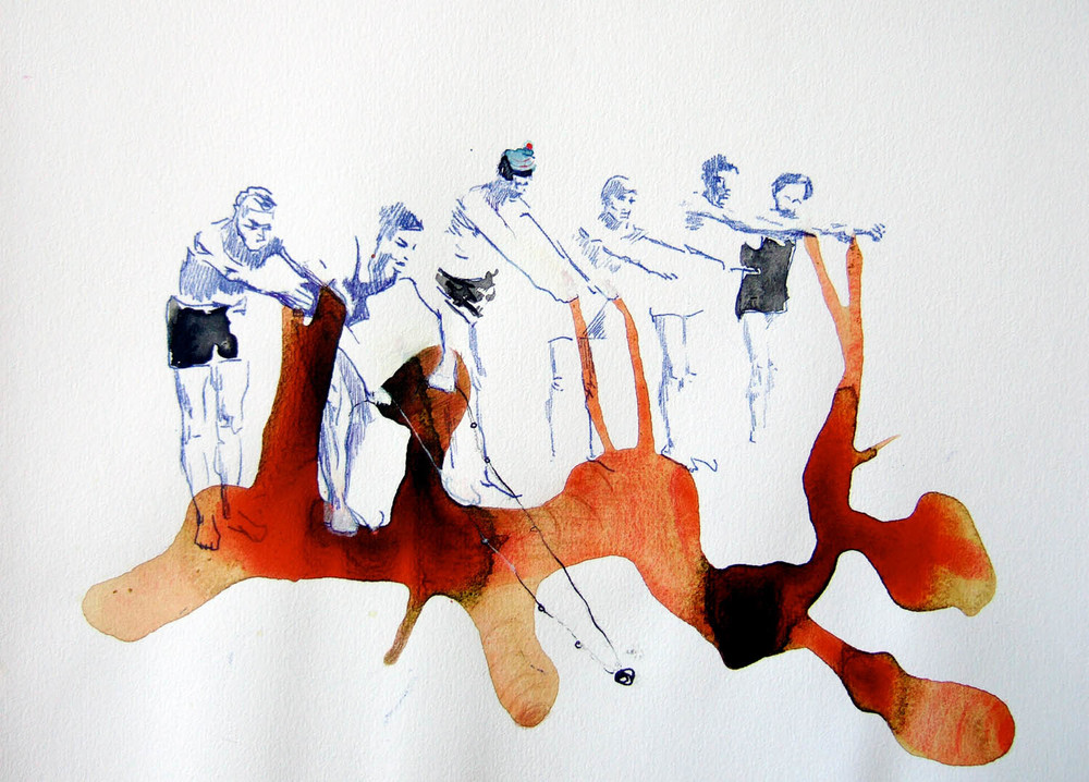 Possibilities and Permutations (2010), watercolour and ink on paper, 210 x 297mm