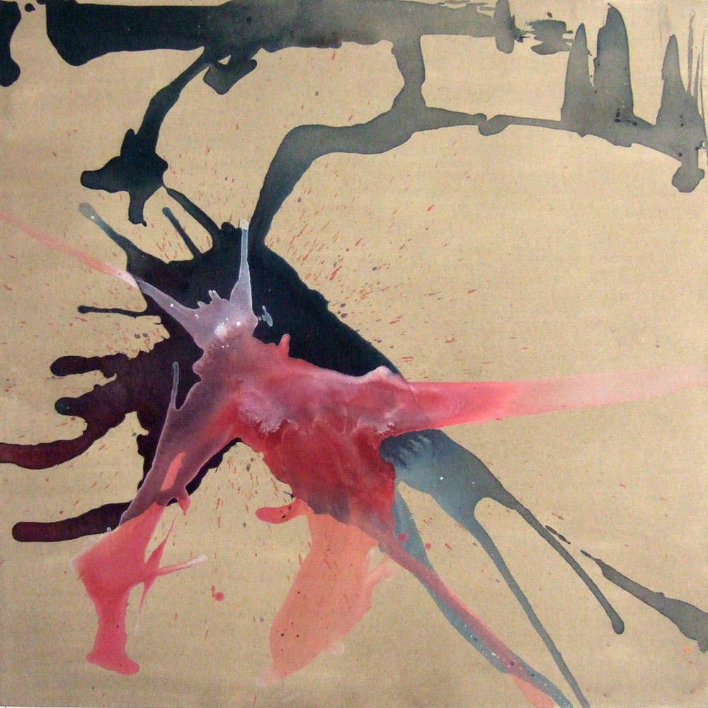 Flight (2007), ink and acrylic on canvas, 100 x 100cm