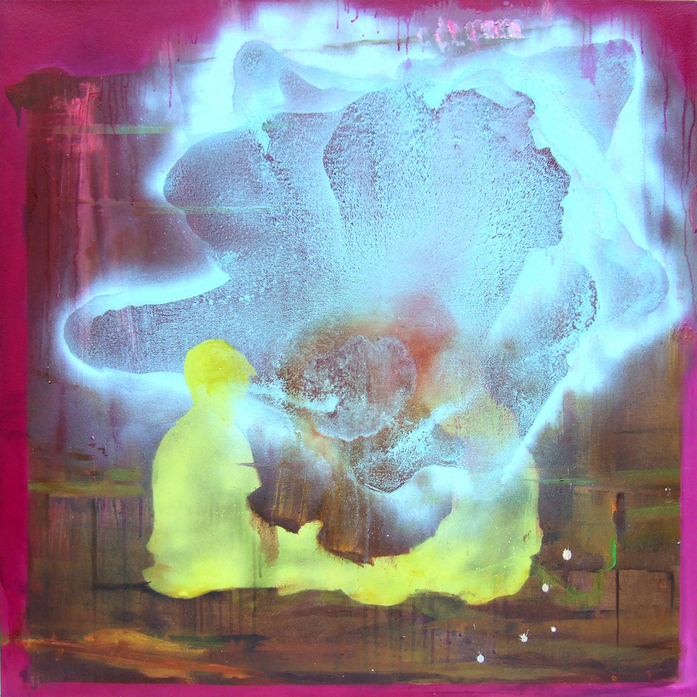 Inside outside, Outside in (2007), ink, acrylic and oil on canvas, 100 x 100cm