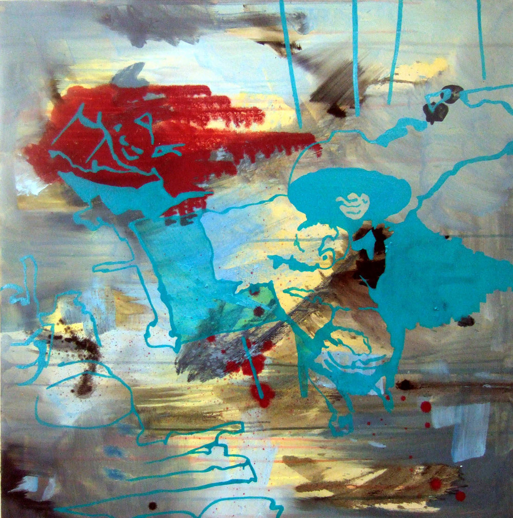 Mother and Child (2006), acrylic and oil on canvas, 100 x 100cm