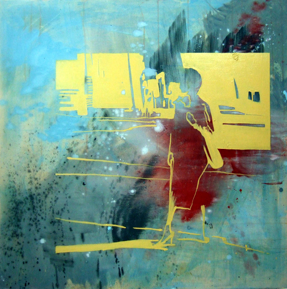 Model (2006), acrylic and oil on canvas, 100 x 100cm