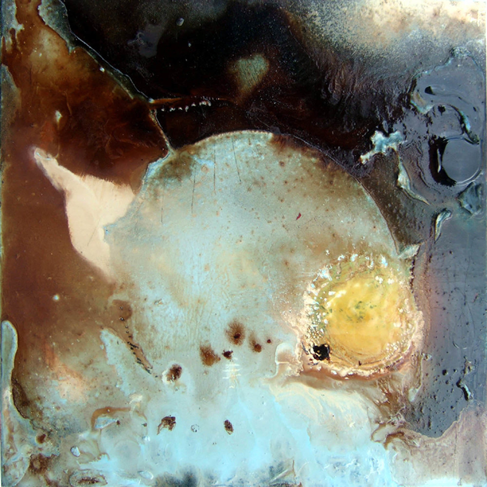 cosm 3a (2007), mixed media on particle board, 40 x 40cm