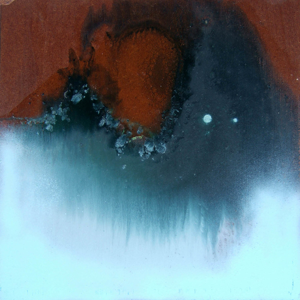 cosm 5b (2007), mixed media on particle board, 40 x 40cm