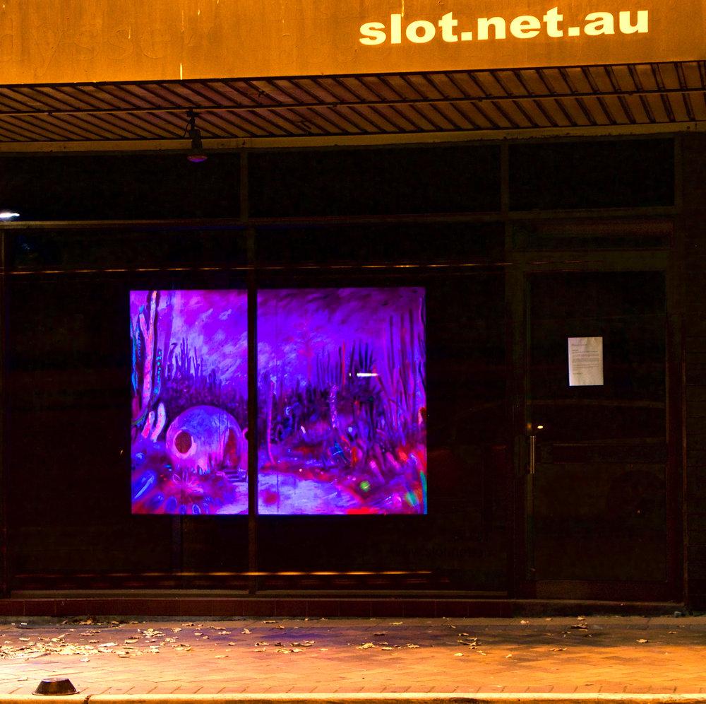 Kathryn Cowen, #otherworlds , 2017, installation view SLOT window gallery, Redfern, NSW