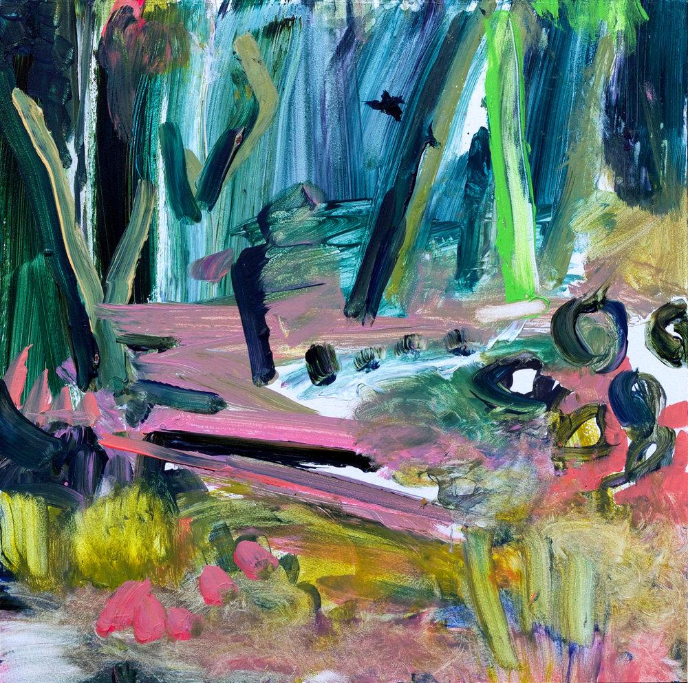 Kathryn Cowen, Turondale, 2018, acrylic on board, 42 x 42cm