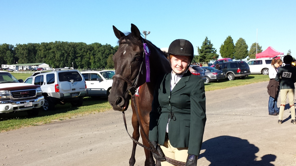 Norm & Danielle at the Fair Hill All Thoroughbred Horse Show, Sept 7th!