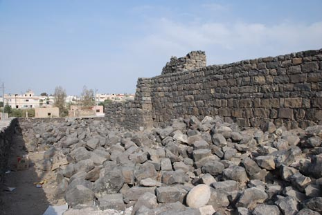 Remains of the original wall