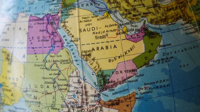 Midtausten på globusen min frå 1987