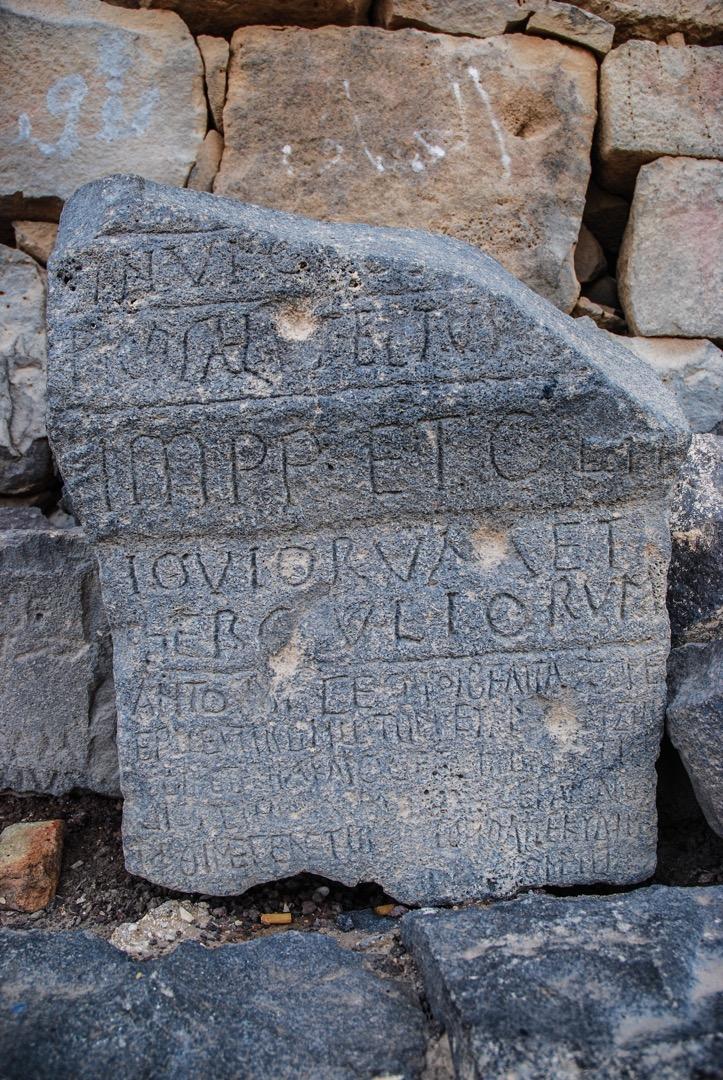 Latin on top, Greek below