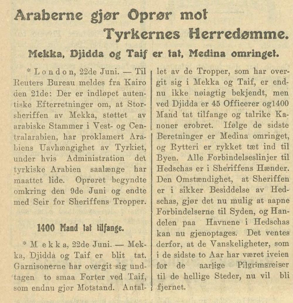 Morgenbladet , 23. juni 1916.