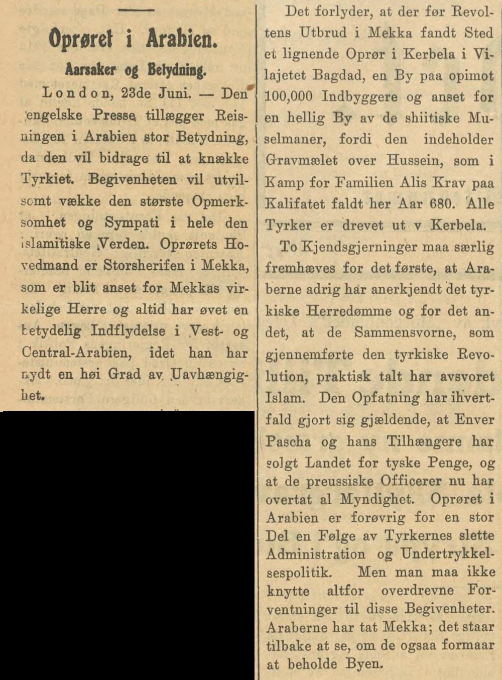 Morgenbladet  (Aften), 23. juni 1916