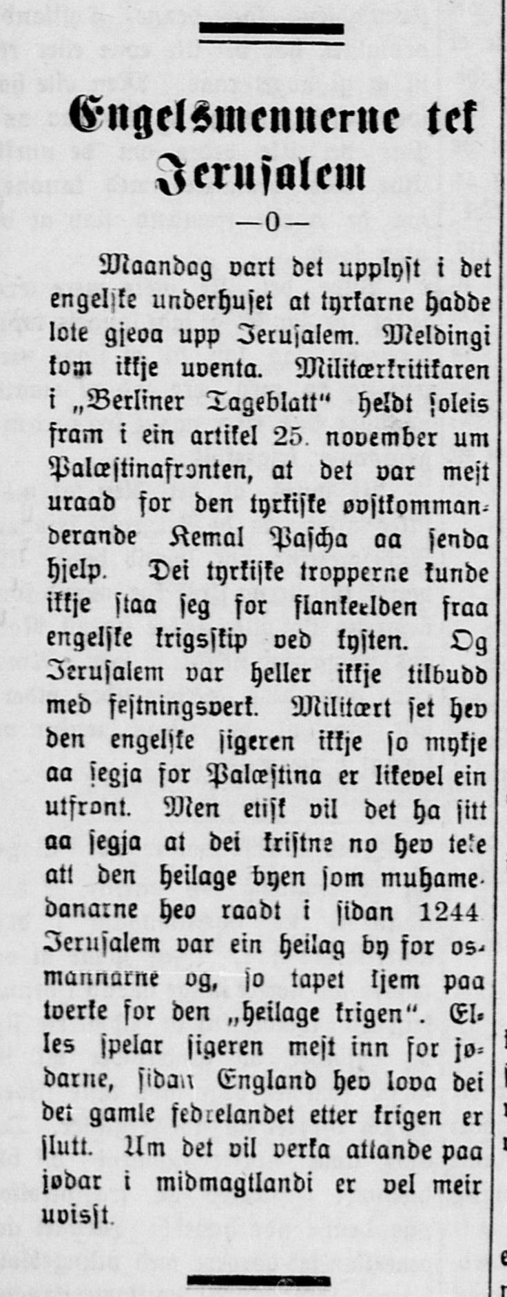 Nordre Bergenhus Folkeblad , 13. desember