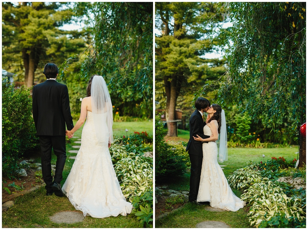 new england back yard wedding