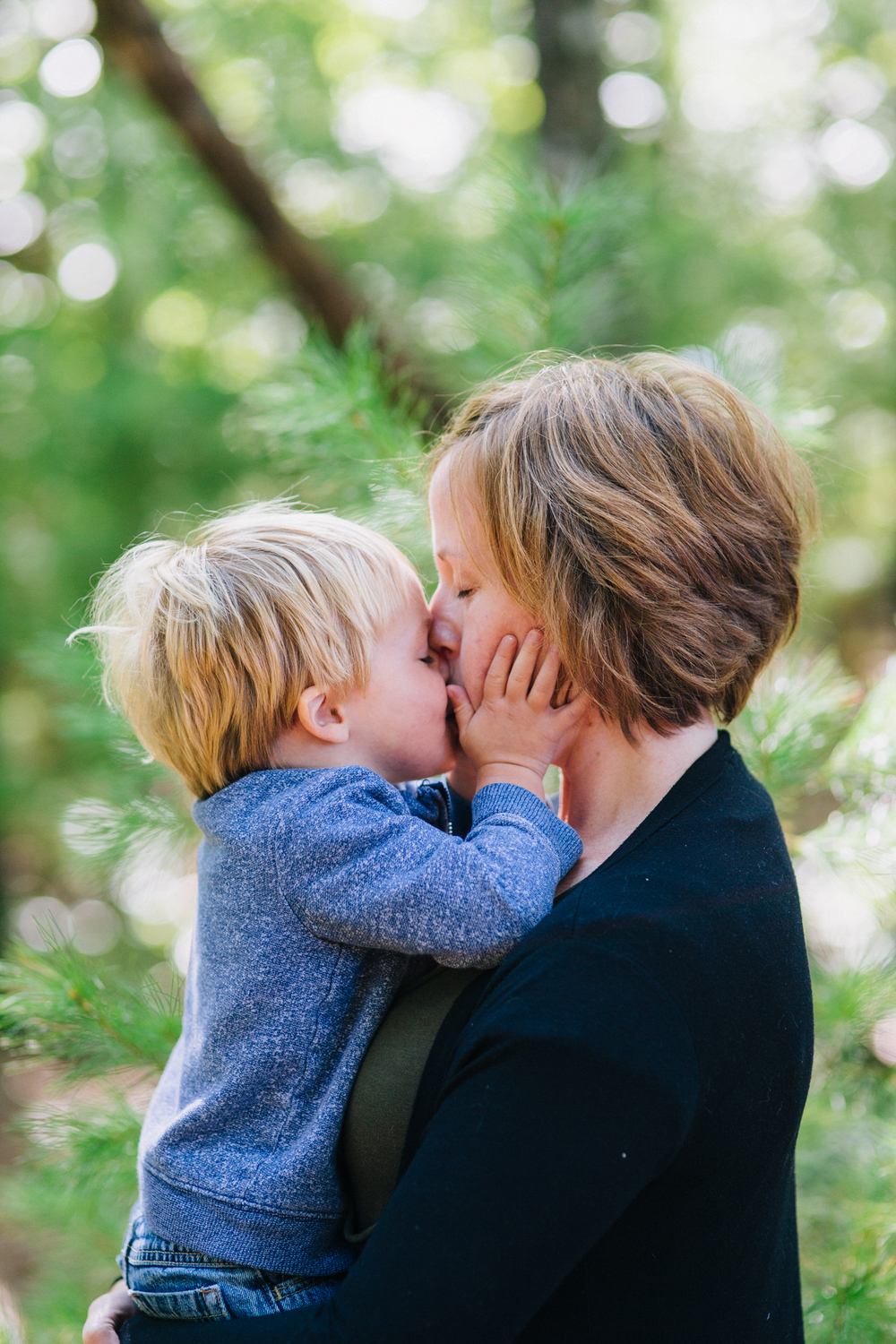 harvard ma family photography portrait session mother son kiss