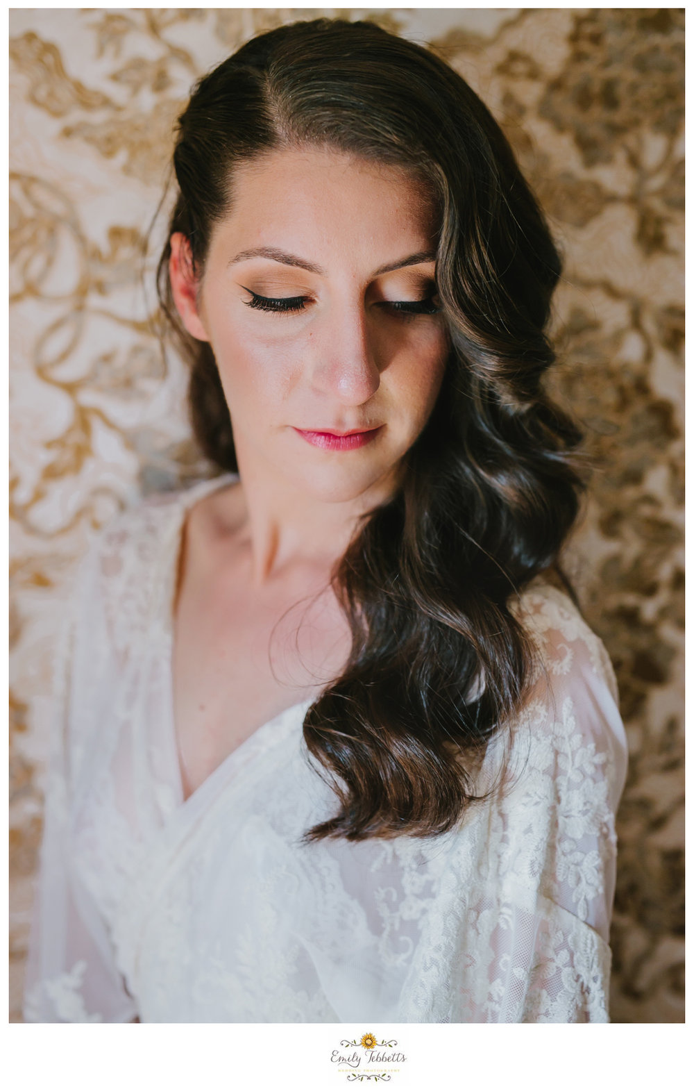 Emily Tebbetts Photography - Jackie and Ben Worthington Inn Four Corners Worthington MA Western Massachusetts Wedding Barn wedding rustic glamorous wedding bride soft waves lace wallpaper field bookcase-3.jpg