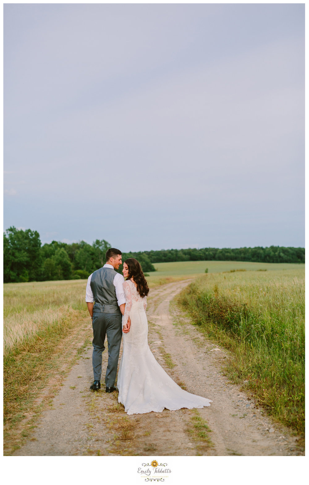 Emily Tebbetts Photography - Jackie and Ben Worthington Inn Four Corners Worthington MA Western Massachusetts Wedding Barn wedding rustic glamorous wedding bride soft waves lace wallpaper field bookcase-10.jpg