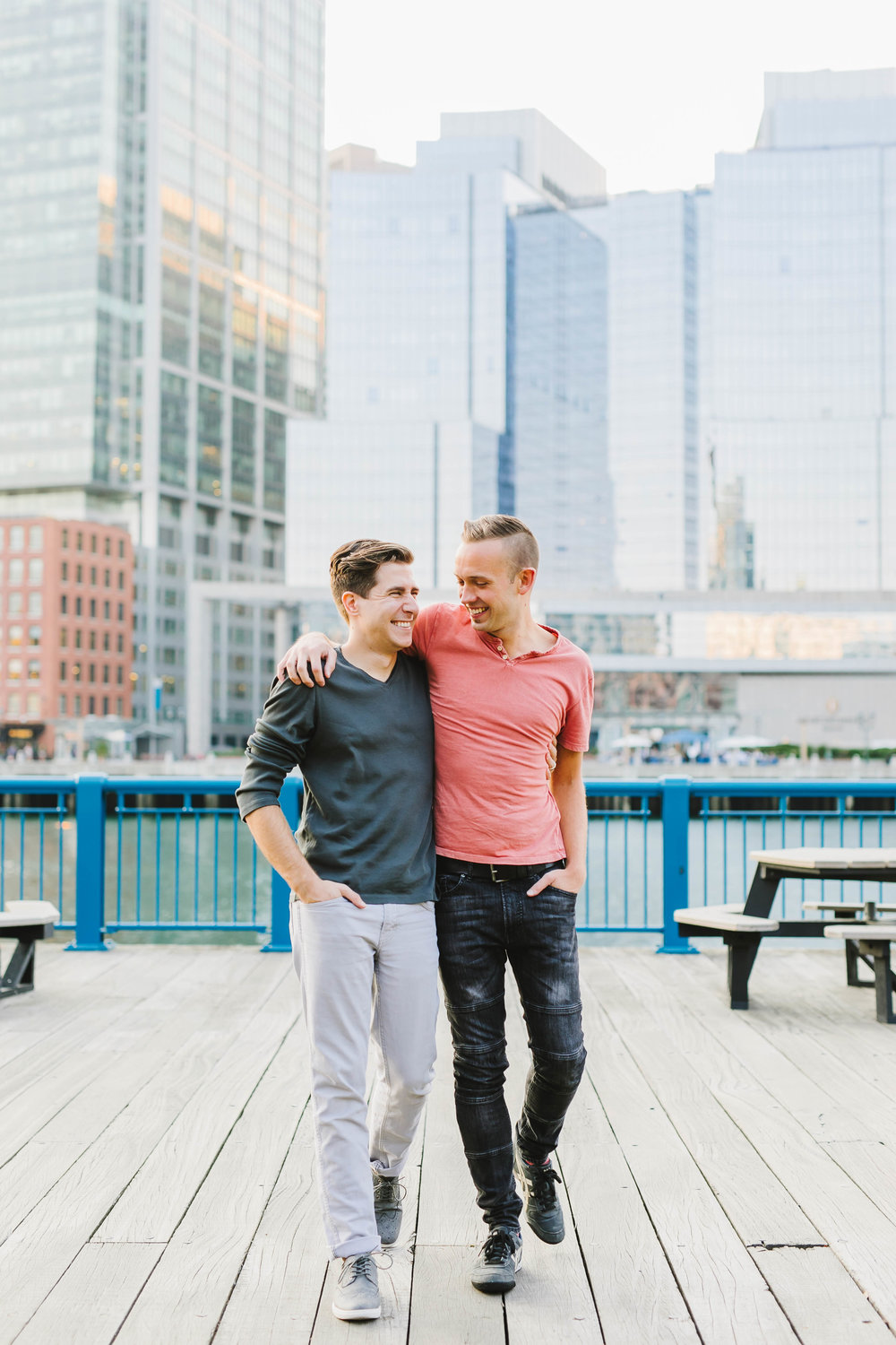 Fort Point Boston City Engagement Session ICA Childrens Museum LGBTQ same sex couple - Emily Tebbetts Photography-20.jpg