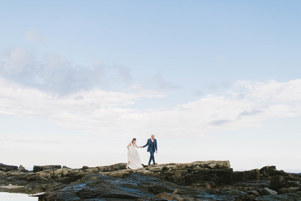 Kennebunk Kennebunkport Maine Wedding backyard beach sunset private estate new england - Emily Tebbetts Photography-13.jpg