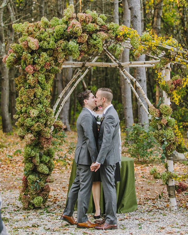 Can't get enough of Alex and Corey's wedding at The Barn at Flanagan Farm. Such an amazing day! . . . . . . . #barnatflanaganfarm #maineweddingphotographer #maineweddingphotography #barnwedding #samesexwedding #lgtbqcouple #autumnwedding #fallwedding #autumnweddinginspo #woodswedding #forestwedding #outdoorwedding #outdoorweddinginspo #newenglandwedding #newenglandweddingphotography  #intimatewedding #romanticfallwedding #loveintentionally #rusticwedding