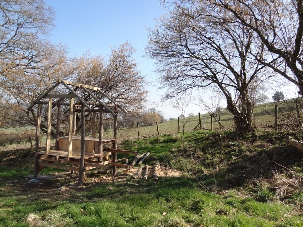 glamping, wales, shepherd's hut