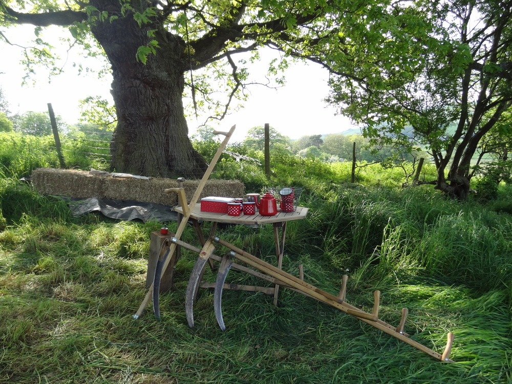 glamping, scything courses, Wales