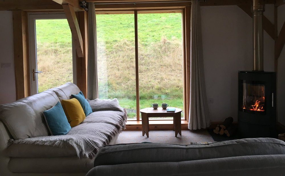Holiday cottage in Wales with wood burner
