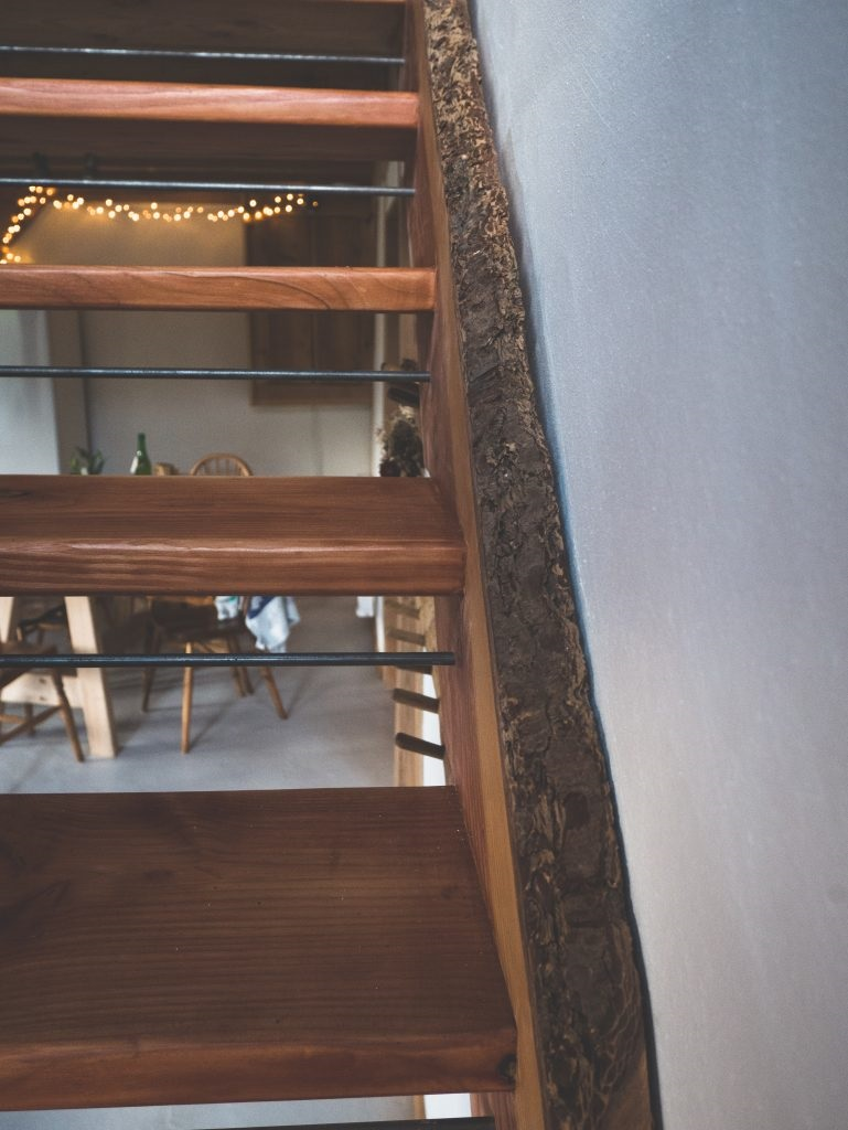 self catering cottage, staircase