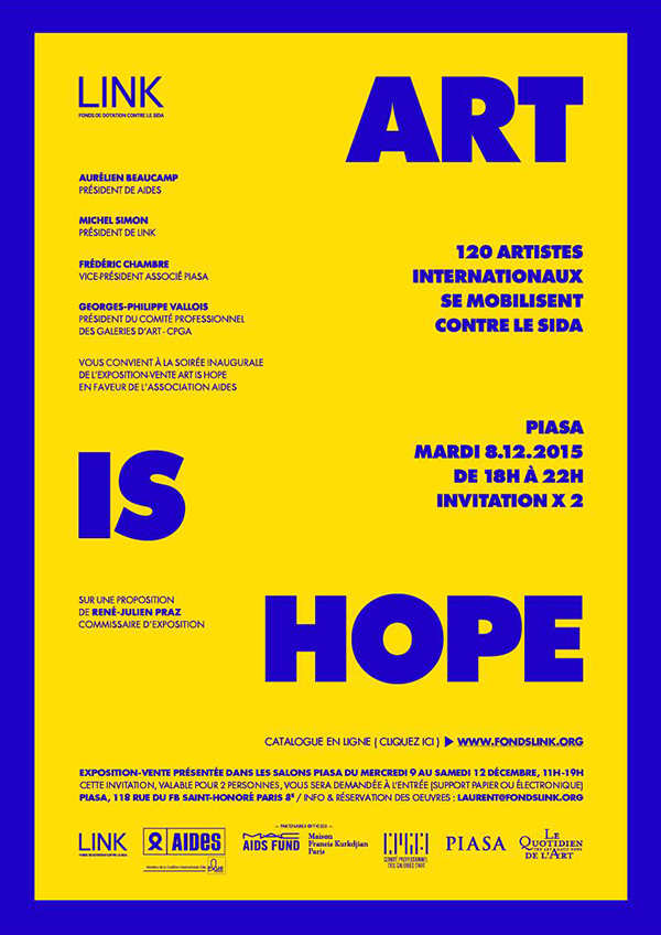 Invitation vernissage ART IS HOPE 2015