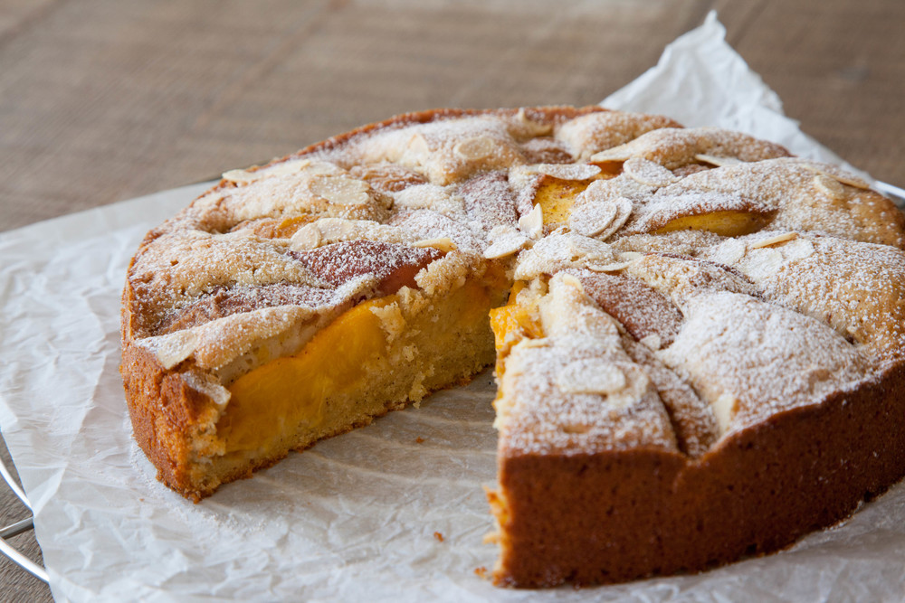 Peach, Lemon and Almond Cake — PANCAKES & PEONIES