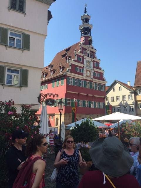 Talking about the history of Esslingen's most famous building, the stunning Alte Rathaus and it's fascinating Astronomical CLock