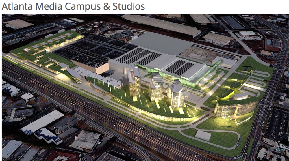 Above is a rendering of Atlanta Media Campus and Studios.  The address is 6305 Crescent Drive Norcross, GA 30071.  Workshops will be held in the O.F.S. Building in the Auditorium.