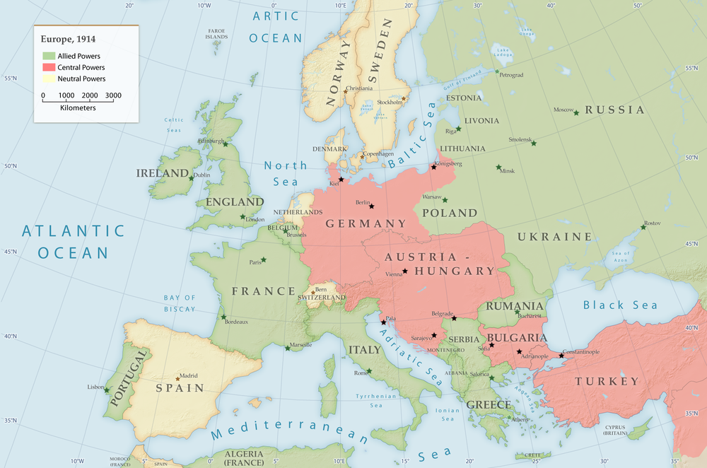 Europe in 1914   before World War I begins