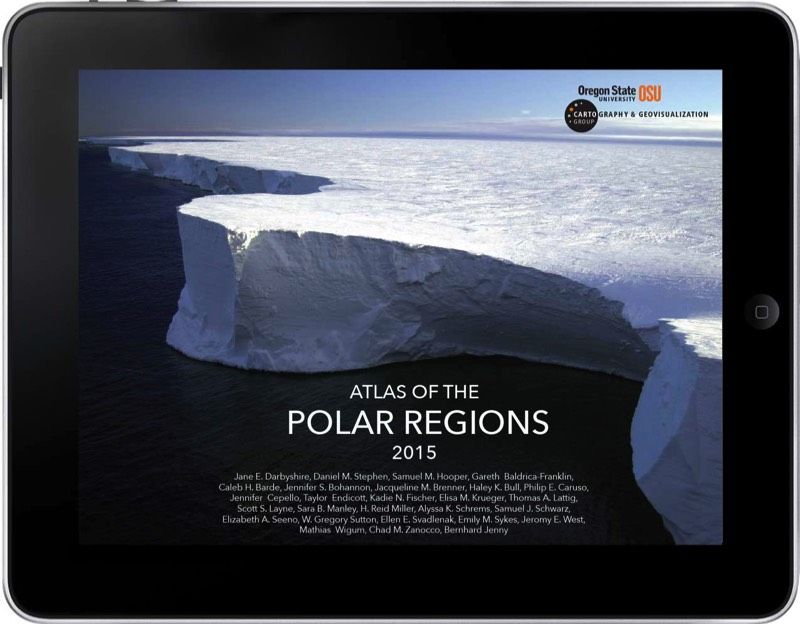 2015 Dynamic Map (Group) Winner, Oregon State University Cartography & Geovisualization, Atlas of the Polar Regions