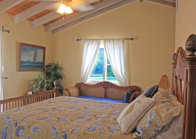 Upstairs Bedroom with Views of Magen's Bay to the West
