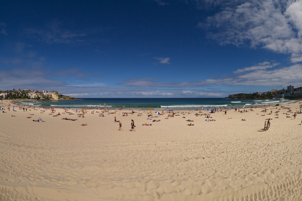 Bondi beach, the preferred destination for post-training relaxation!