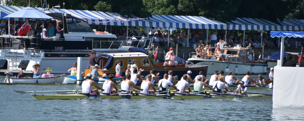 Leading with 200m to go at Henley