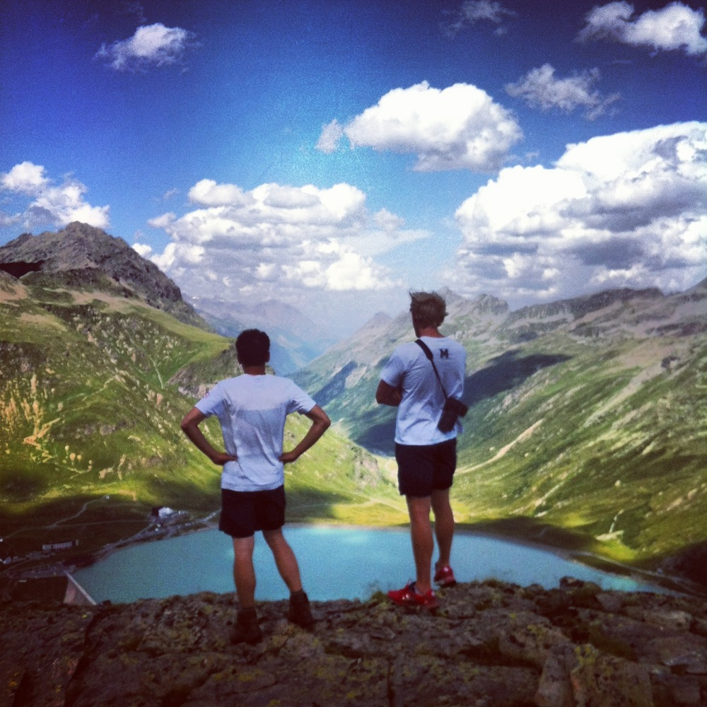 Phelan and Andy enjoying the view.