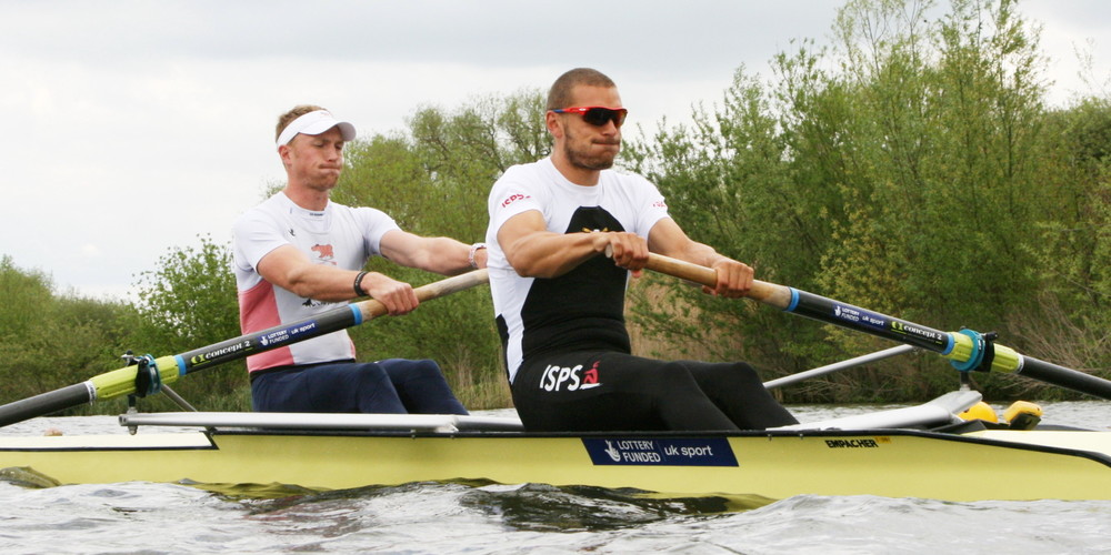 Moe and I taking our first stroke off the start. Final Trials 2014.